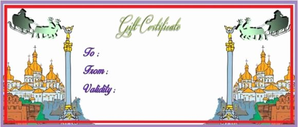 Vacation Gift Certificate Template Inspirational Vacation Gift Certificate Template 34 Word Psd Files
