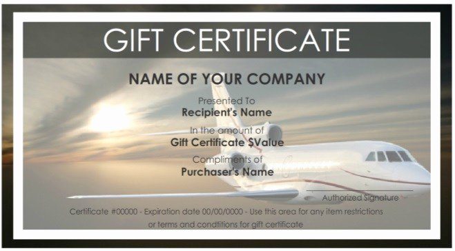 Vacation Gift Certificate Template Lovely 7 Free Sample Travel Gift Certificate Templates