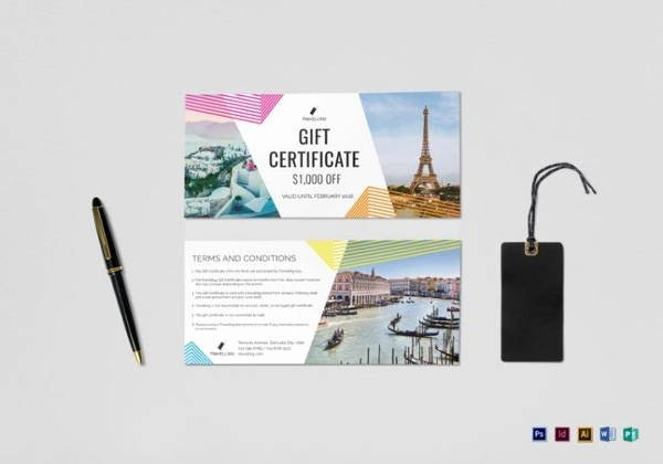 Vacation Gift Certificate Template Lovely Best Gift Certificate Templates 38 Free Word Pdf