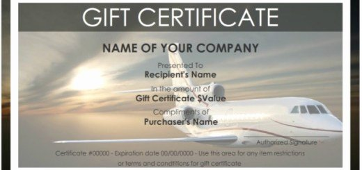 Vacation Gift Certificate Template Luxury Printable Samples Collection Of Free Printables & Samples