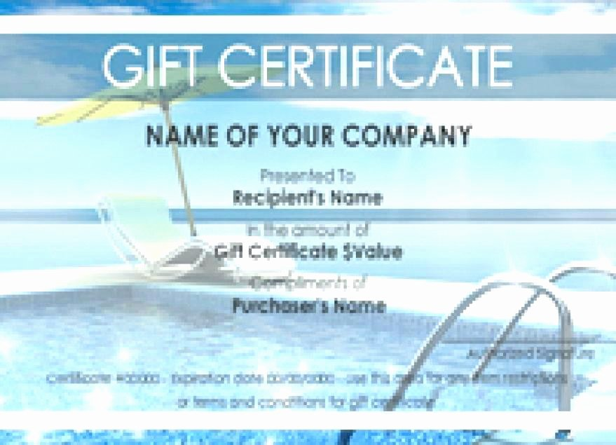 Vacation Gift Certificate Template New Congratulations Certificates Templates Free Fresh Template