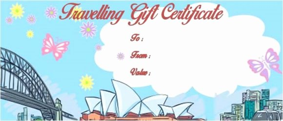 Vacation Gift Certificate Template New Vacation Gift Certificate Template 34 Word Psd Files