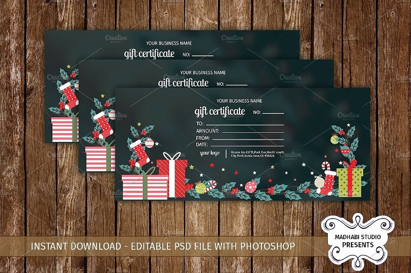 Vacation Gift Certificate Template Unique 20 Beautiful Gift Card Designs