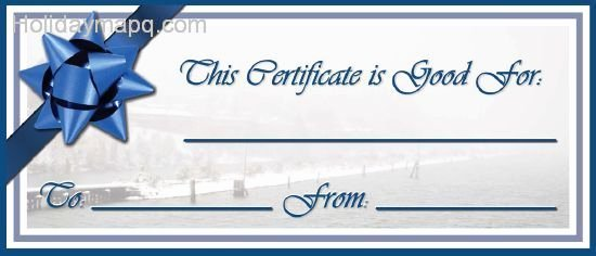 Vacation Gift Certificate Template Unique Gift Certificate Template Holiday Map Q