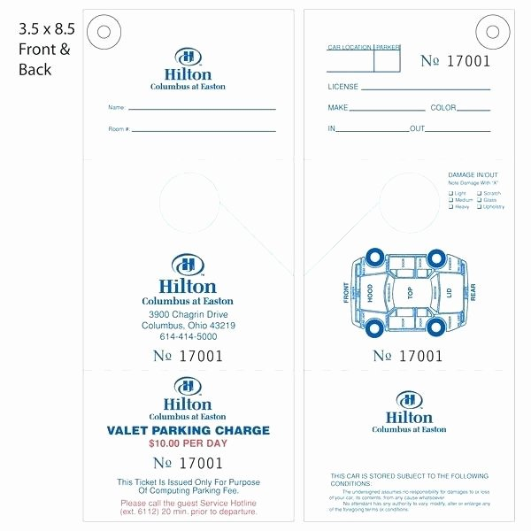 Valet Parking Ticket Template Best Of Blank Train Ticket Vector format Template Word Reservation
