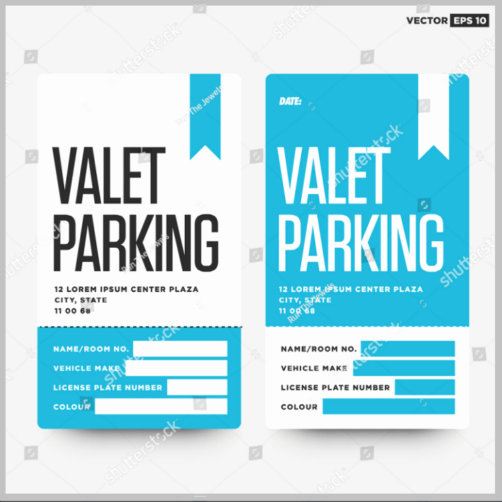 Valet Parking Ticket Template Inspirational 13 Parking Ticket Designs & Templates Psd Ai