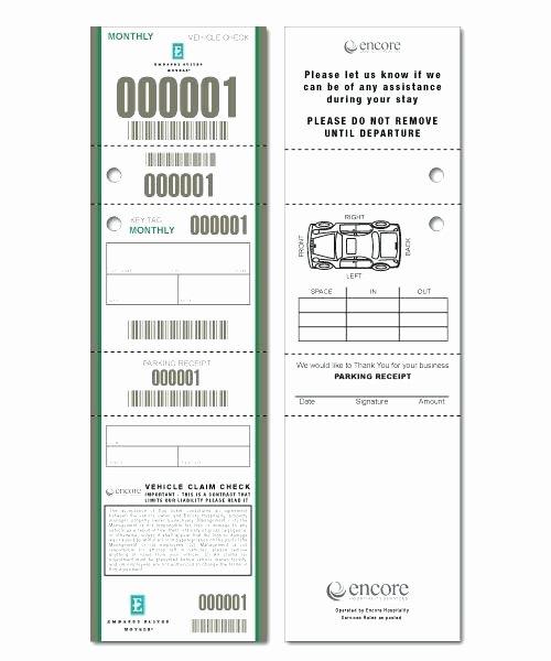 Valet Parking Ticket Template Inspirational Custom Food Roll Ticket Samples Valet Parking Tag Template