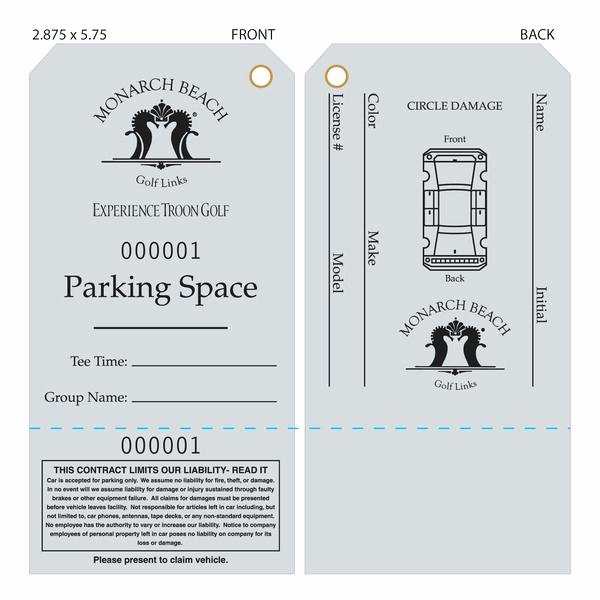 Valet Parking Ticket Template Lovely Ticket Template for Parking Sample Valet Free Word