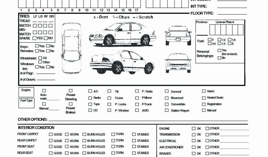 Vehicle Condition Report Template Best Of Vehicle Inspection Report Template Download Checklist form
