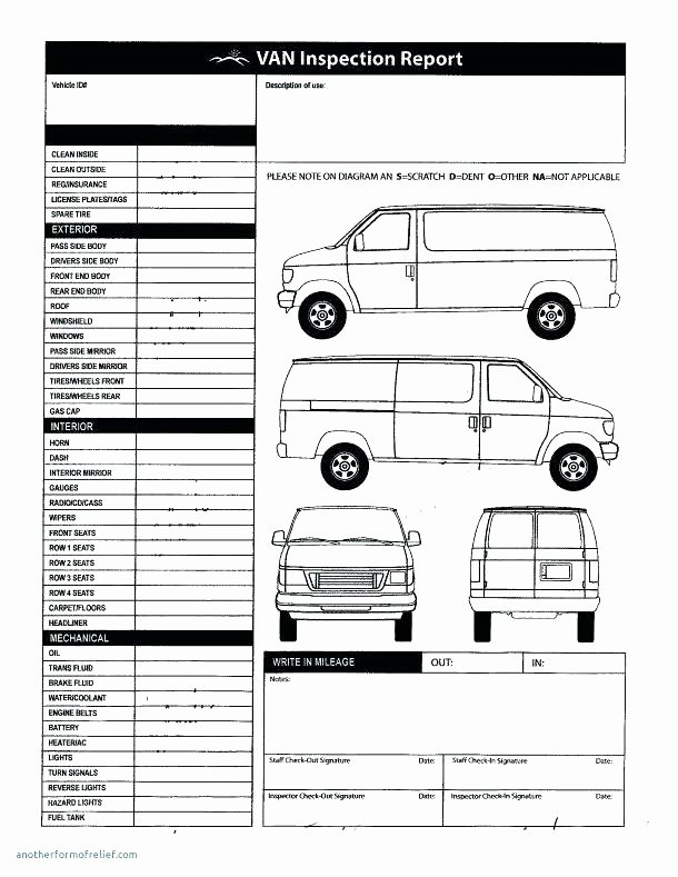 Vehicle Condition Report Template Luxury Great Vehicle Inspection form Template Gallery