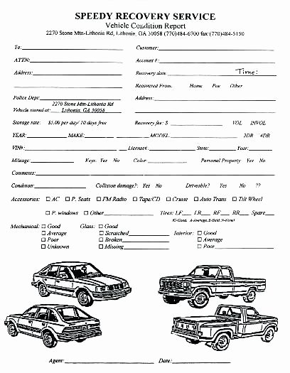 Vehicle Condition Report Template New Detailed Drivers Vehicle Inspection Report Straight Truck