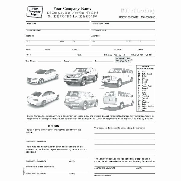 Vehicle Condition Report Template New Vehicle Inspection Report Template – Verbe