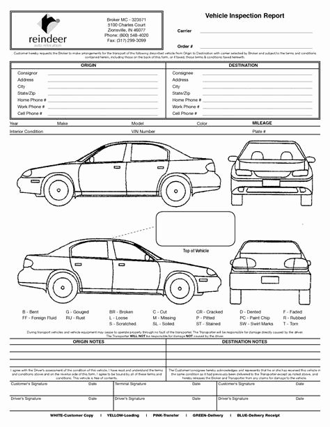 Vehicle Condition Report Template Unique Image Result for Vehicle Damage Inspection form Template