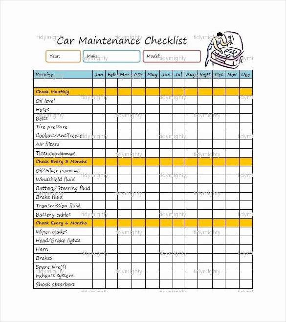 Vehicle Maintenance Checklist Template Best Of 27 Maintenance Checklist Templates Pdf Doc