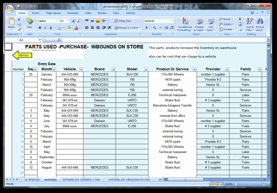 Vehicle Maintenance Log Excel Template Awesome Vehicle Maintenance Spreadsheet Template
