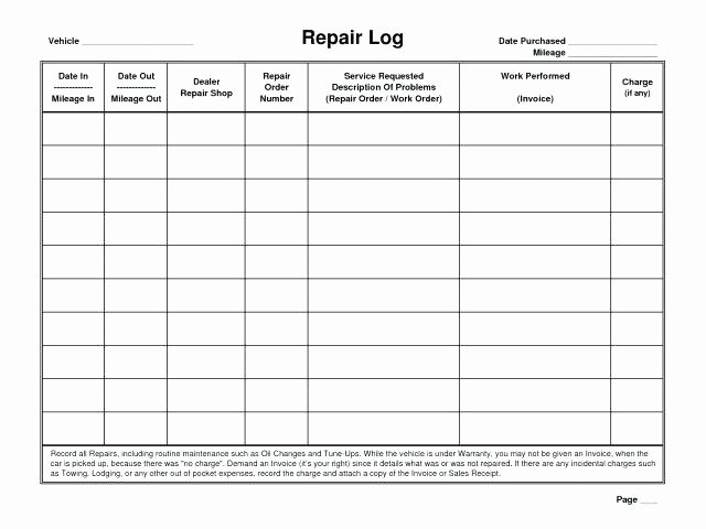 Vehicle Maintenance Log Excel Template Best Of Car Maintenance Tracker Excel Fresh Fleet Management