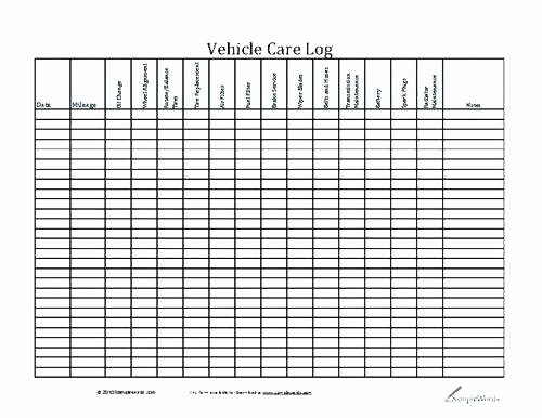 Vehicle Maintenance Log Excel Template Elegant Vehicle Maintenance Log Book Template