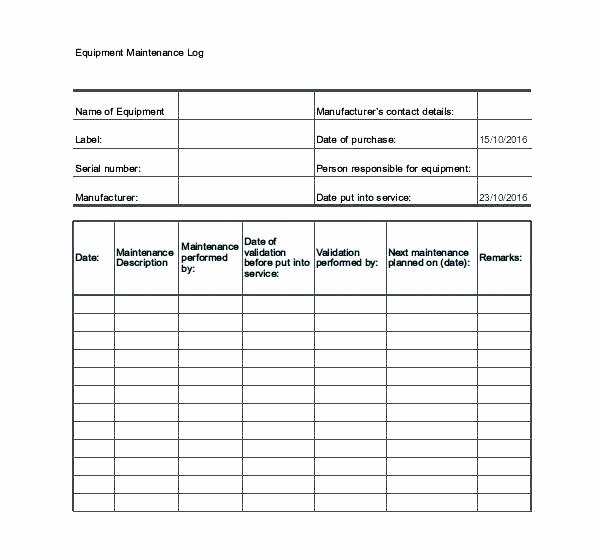 Vehicle Maintenance Log Excel Template Inspirational Maintenance Excel Templates Sheet Template Vehicle Log