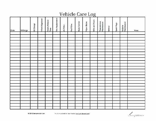 Vehicle Maintenance Log Excel Template Luxury Preventive Maintenance Schedule Templates Fleet