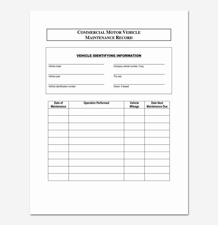 Vehicle Maintenance Log Excel Template Luxury Vehicle Maintenance Schedule Template 10 for Word