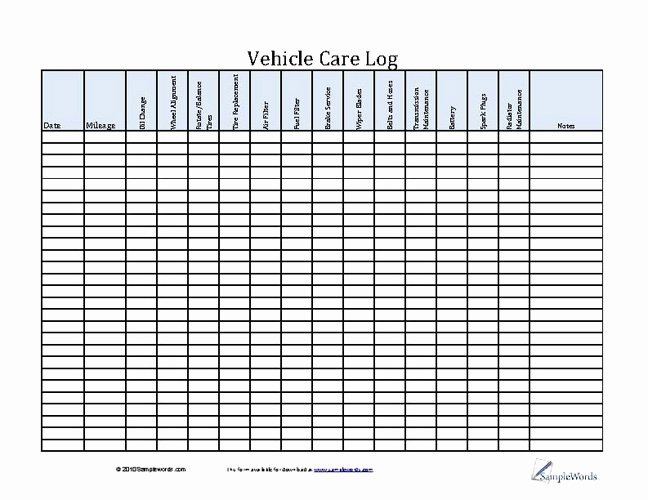 Vehicle Maintenance Schedule Template Best Of 7 Best Of Vehicle Maintenance Check F List