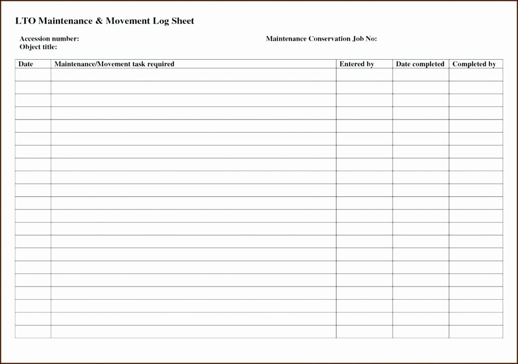 Vehicle Maintenance Schedule Template Excel Beautiful Preventive Maintenance Schedule Template Download Free