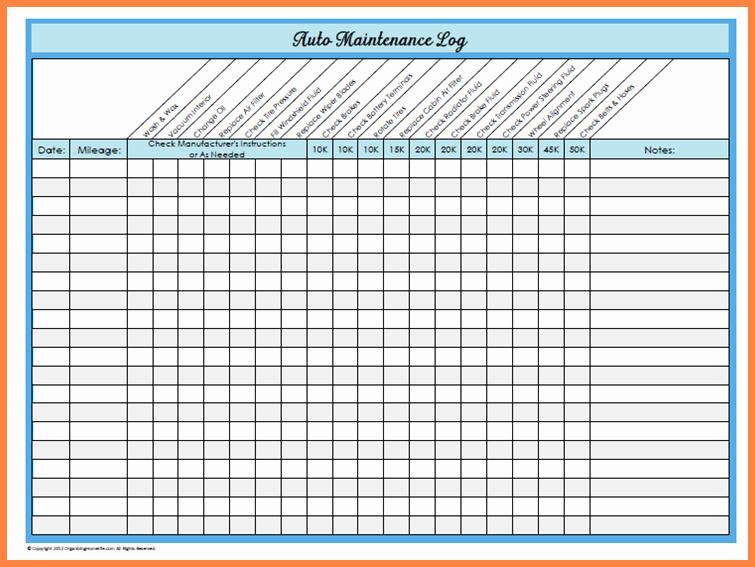 Vehicle Maintenance Schedule Template Excel Fresh Basic Car Maintenance Schedule