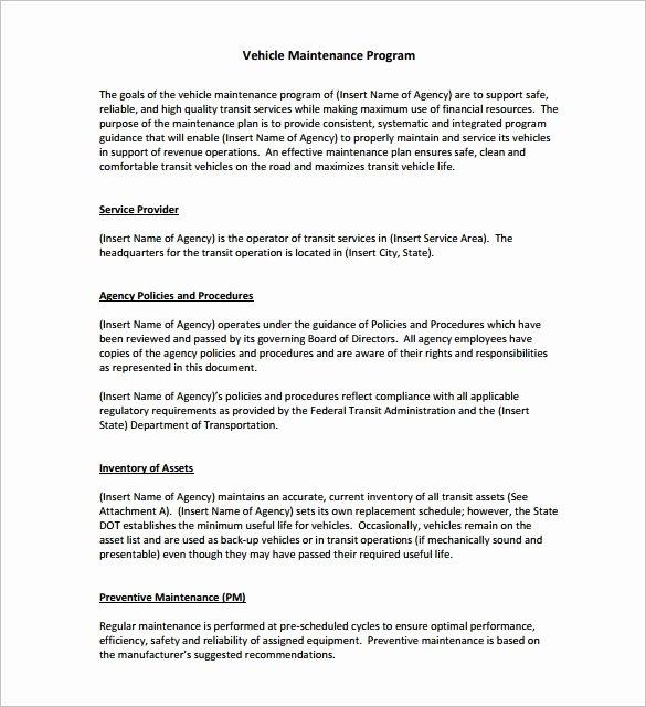 Vehicle Maintenance Schedule Template Unique Vehicle Maintenance Schedule Templates 10 Free Word
