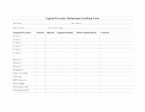 Vehicle Preventive Maintenance Schedule Template Awesome Vehicle Preventive Maintenance Checklist Excel Template