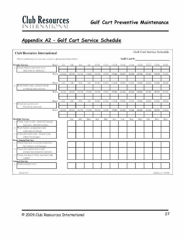 Vehicle Preventive Maintenance Schedule Template Fresh Fleet Management Spreadsheet Template Preventive