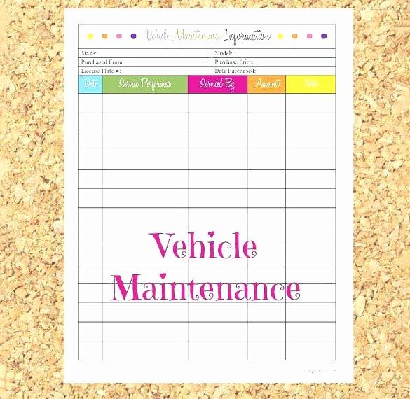 Vehicle Preventive Maintenance Schedule Template Unique Vehicle Maintenance Plan Template – Flybymedia