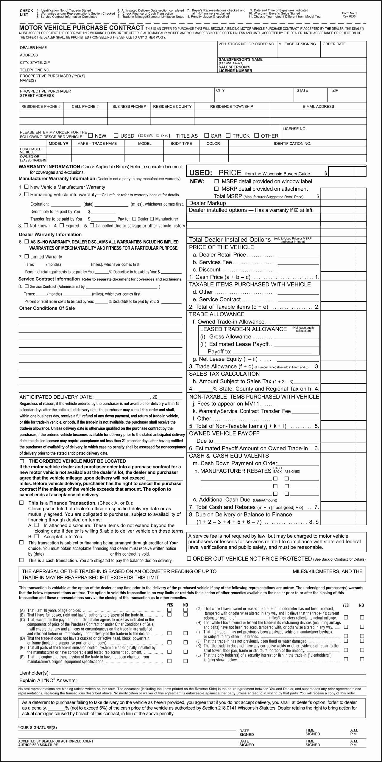 Vehicle Purchase order Template Fresh Auto Purchase Agreement Example Mughals
