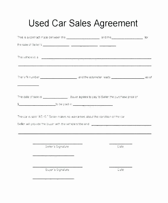 Vehicle Purchase order Template New Vehicle Purchase order Template Sample Motor Auto Dealer