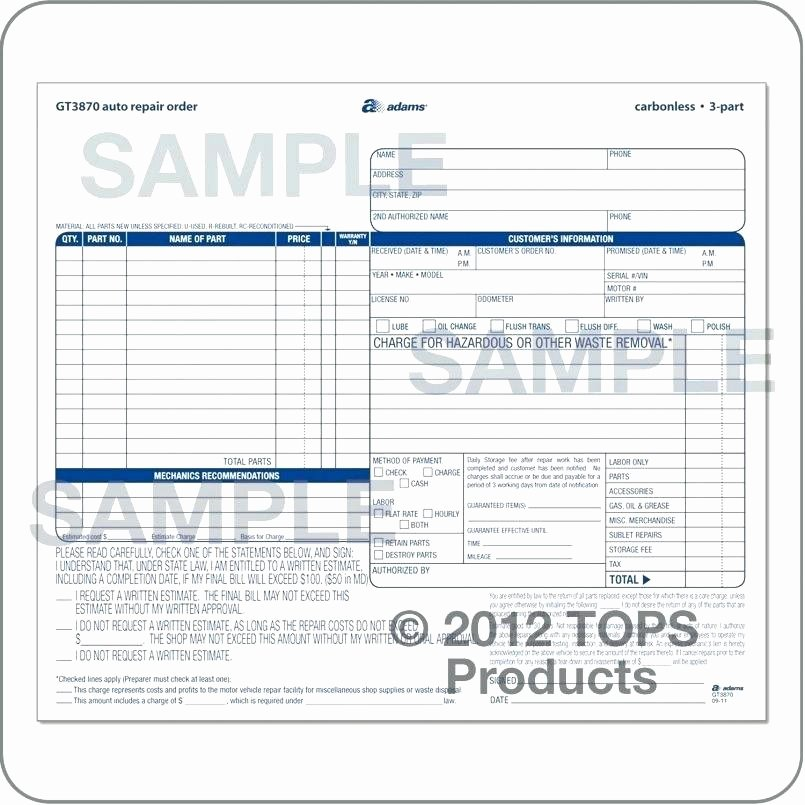 Vehicle Work order Template Awesome Vehicle Work order Template – Onlinedates