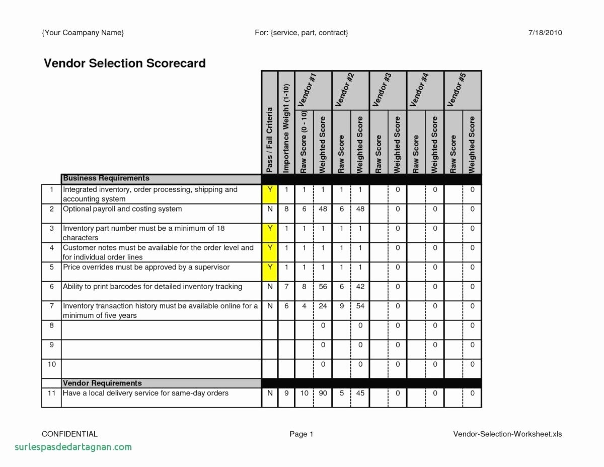 Vendor Scorecard Template Excel Best Of 29 Supplier Scorecard Template Free Download
