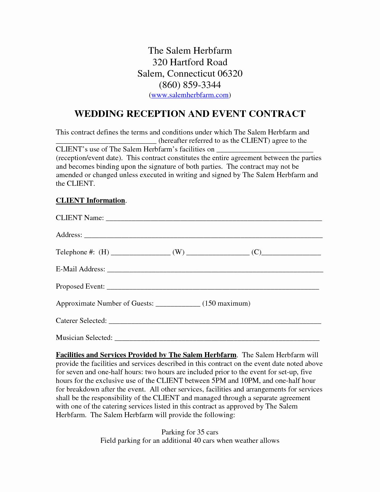 Venue Rental Agreement Template Beautiful Wedding Venue Contract Template – Emmamcintyrephotography
