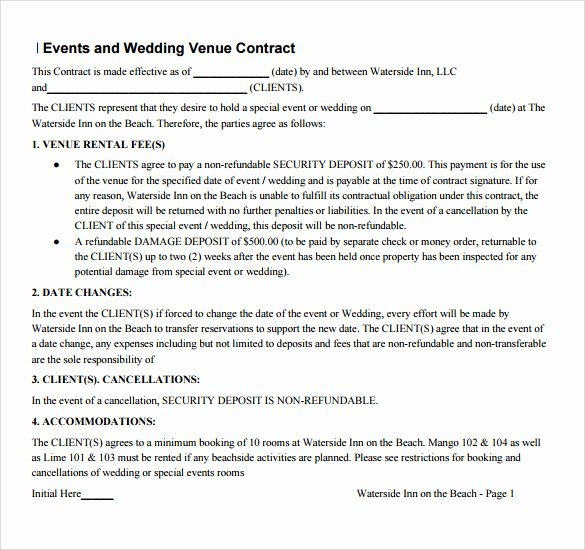 Venue Rental Agreement Template Best Of 14 Vendor Contract Templates – Samples Examples & format