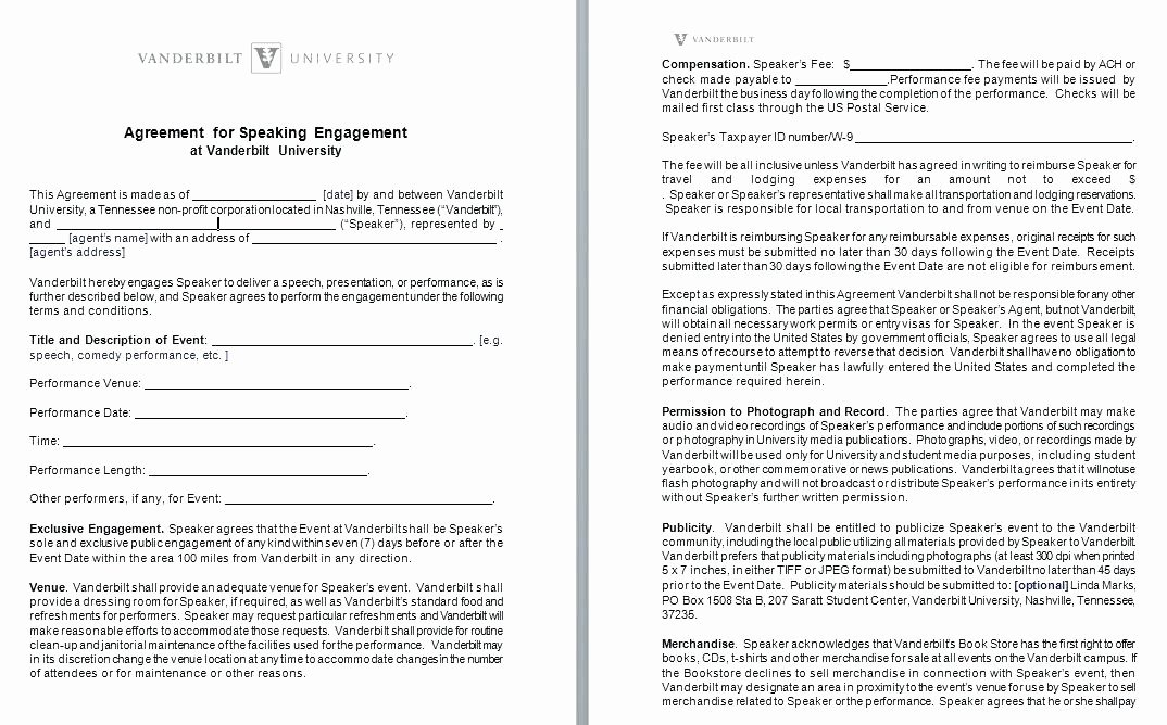 Venue Rental Agreement Template Fresh Venue Hire Agreement Template Model Examples In Word
