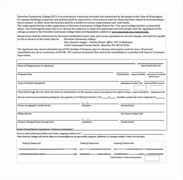 Venue Rental Agreement Template Inspirational Venue Rental Contract Template Free – Hydrellatonefo