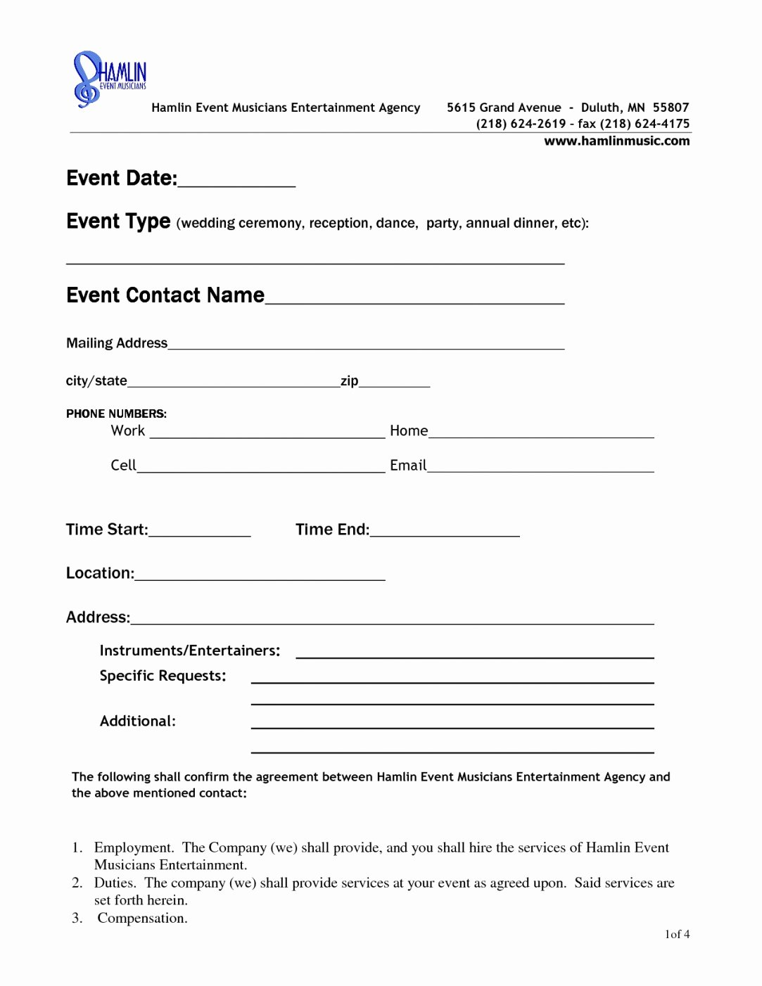 Venue Rental Agreement Template New event Space Rental Agreement Template