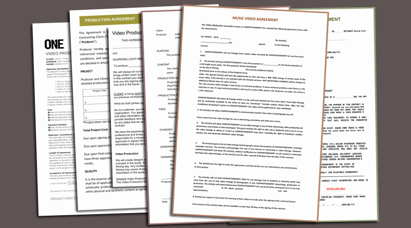 Video Editing Contract Template Elegant Video Production Contract 6 Printable Contract Samples