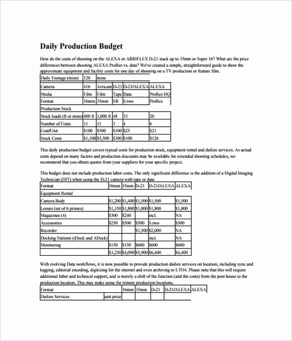 Video Production Budget Template Unique 21 Bud Templates Free Word Pdf Documents Download