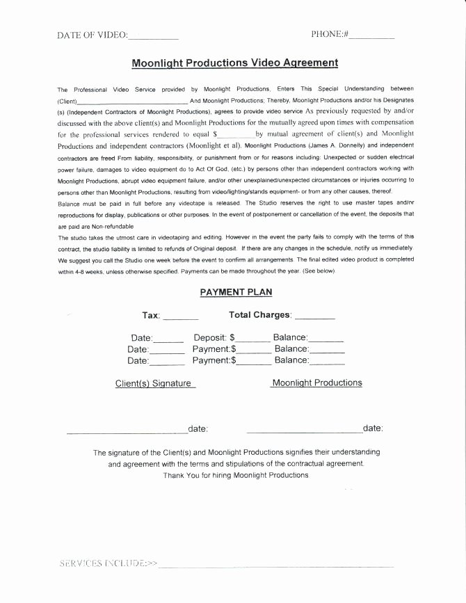 Video Production Contract Template Elegant Video Production Contract Template – Gradyjenkins