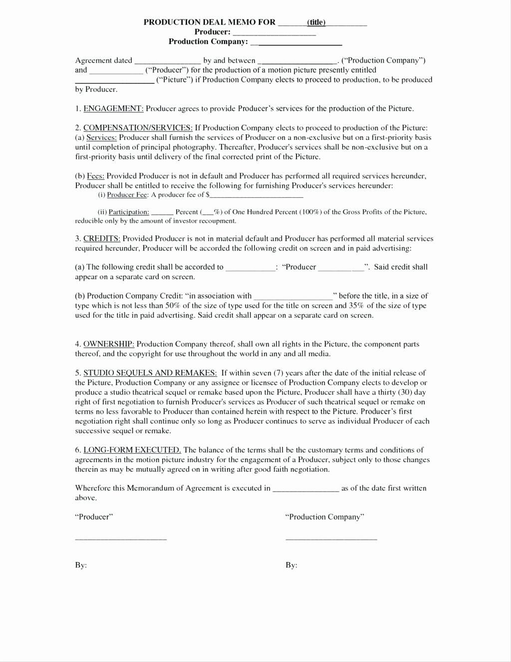 Video Production Contract Template Fresh Template Business Ownership Contract Template