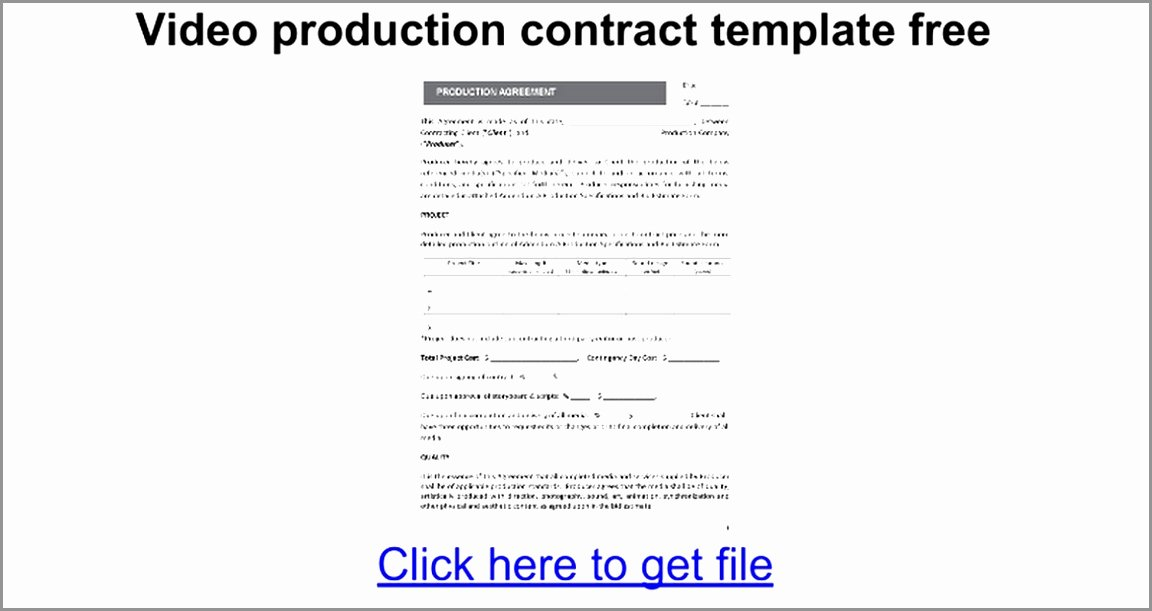 Video Production Contract Template Lovely 5 Video Production Contract Template Ereoy