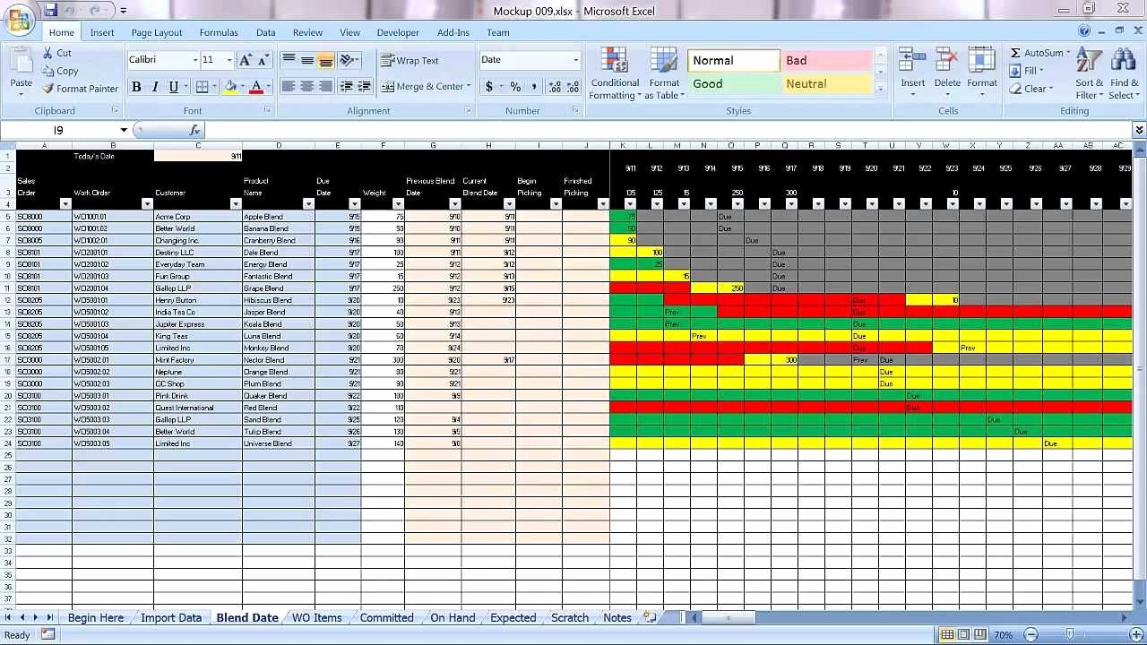 Video Production Plan Template Awesome Excel Graphical Production Planning and Control Planner