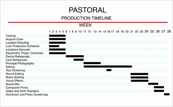 Video Production Plan Template Fresh 5 Production Timeline Templates Excel Pdf