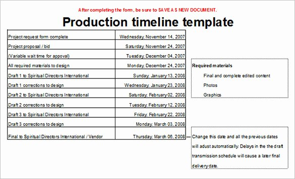 Video Production Plan Template Unique 5 Production Timeline Templates Excel Pdf