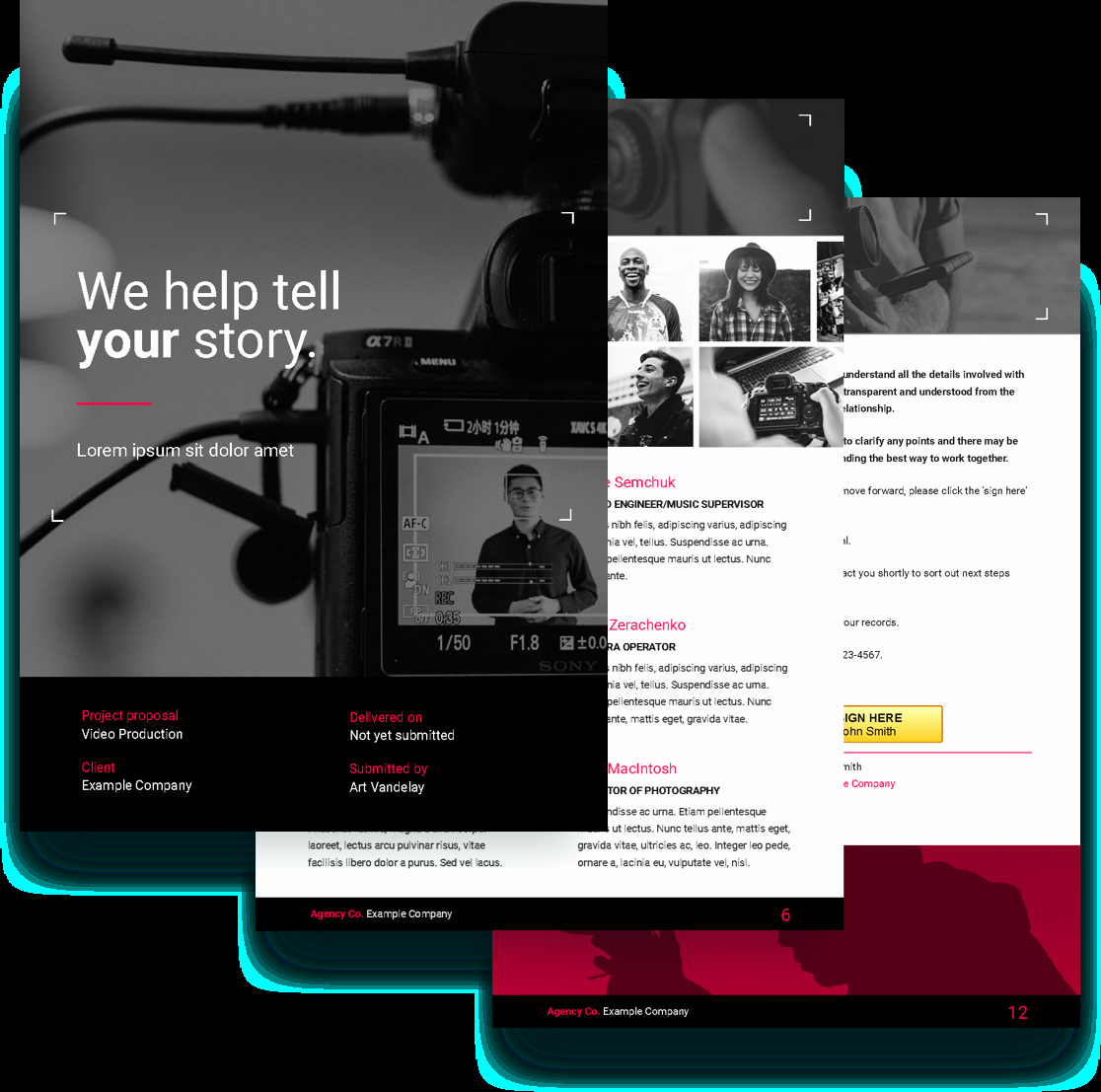 Video Production Quote Template Unique Video Proposal Template Free Sample
