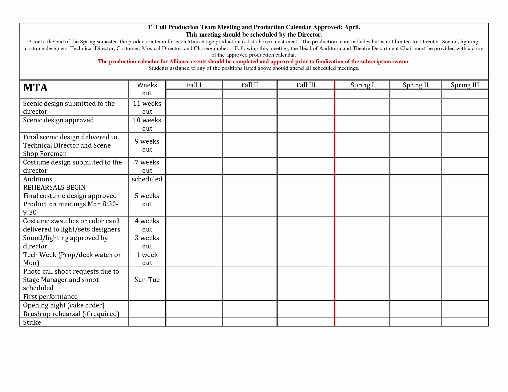 Video Production Schedule Template Best Of Production Schedule Template